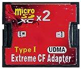 Dual 2x Micro SDHC zu UDMA CF Type I Adapter, von M-ware®. ID13595