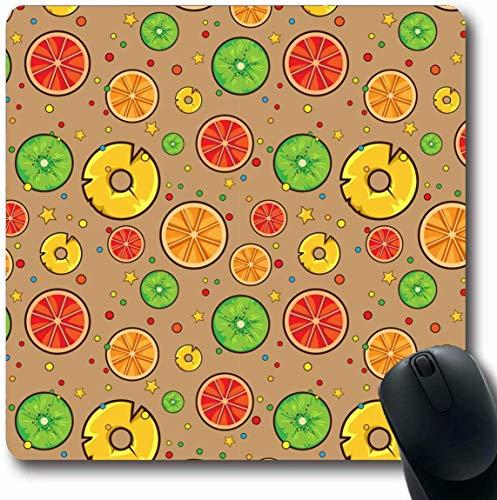 Grapefruit-diät (Luancrop Mousepad Längliches Essen Brauner Kreis Obst Trinken Saft Kochen Niedlich Diät Frisch Grapefruit Design Natur Büro Computer Laptop Notebook Mauspad, Rutschfester Gummi)