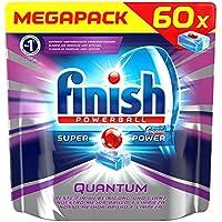 XXL Pack Finish/ Calgonit Powerballs Quantum Regular Tabs/ 60 Stück/ Glanz & Glasschutz/ Spülmaschinen-Tabs