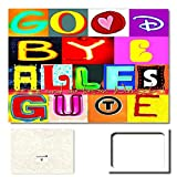 Produktbild von DigitalOase Abschiedskarte 'Good Bye Alles Gute' Riesige