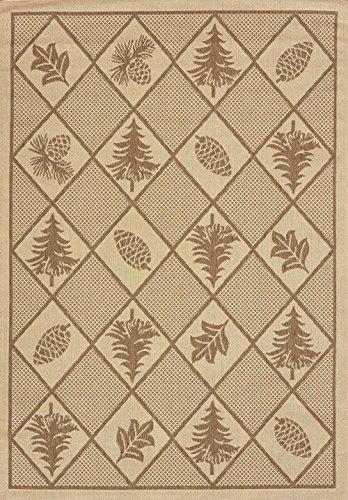 United Weavers of America, Inc. United Weavers of America Solarium Woven Pine Outdoor Area Rug, 7-Foot 10-Inch by 10-Foot 6-Inch, Brown by United Weavers of America, Inc.