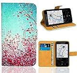 Nokia Lumia 530 Handy Tasche, FoneExpert Wallet Case Flip Cover Hüllen Etui Ledertasche Lederhülle Premium Schutzhülle für Nokia Lumia 530