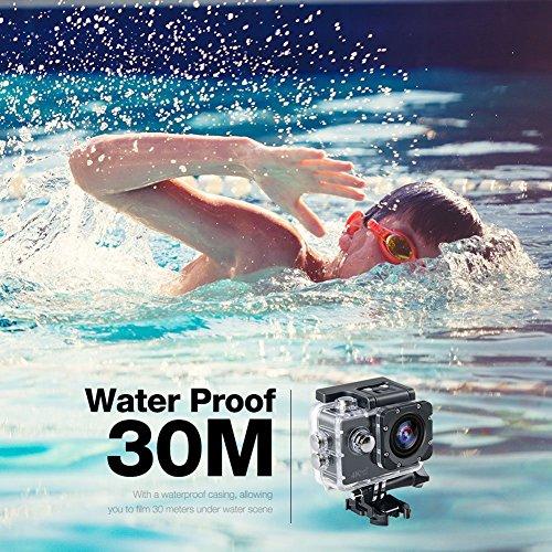 Topjoy Sport Action Kamera TJ5000 4K 16MP Unterwasser Action Kamera mit NTK96660 Chipsatz Sony IMX078 Sensor Gyro WiFi HDMI & AV Out Action Cam für Tauchen Fahrrad Skifahren - 4