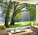 H&M Tapete selbstklebende Tapete PVC 3D Naturlandschaft Wald Wald schöne Landschaft Dekoration Wohnzimmer Restaurant TV Tapeten / Quadratmeter