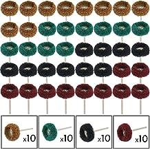 cnmade Grit rueda de pulido de discos de pulir abrasivos de acabado compuesto de pulido Juego de ruedas para Dremel Rotary herramienta 40pcs 3mm