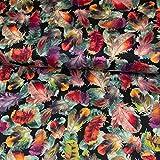 Strickjersey Digitaldruck Bunte Federn Modestoffe Stretch - Preis Gilt für 0,5 Meter