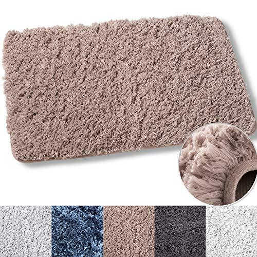 Luxe Plüsch badteppiche Bad dusche mat w rutschfest mikrofaser super Absorbent Teppich alfombras para baños braun(1) -