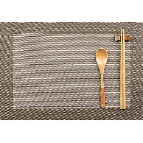 manteles continental-a prueba de calor/ Almohadilla occidental/Estilo japonés simple aislamiento impermeable pad/ Plato pad-E