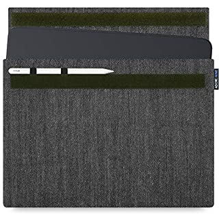 Adore June Business Case for Apple iPad Pro 12 9 2018 12.9 Inch with Apple Pencil/Apple Pencil 2 Holder, Grey/Black