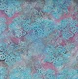 Fabric Freedom Rose Fusion Design 100% Baumwolle Bali Batik Tie Dye Muster Stoff für Patchwork, Quilten &,–(Preis Pro/Quarter Meter)