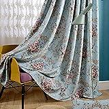 Vorhänge-Kampagne Druck Stufenheck Vorhänge mit Blumen Vorhänge Farbton von Schallschutz Shade Thicken Wohnzimmer Schlafzimmer ein Panel 1pc(200x270cm)