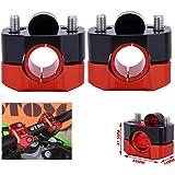 """FastPro Manubrio Riser Morsetto Mount Moto Universale per 7/8"""" e 1 1/8"""" (22 mm e 28 mm) Manubrio"""