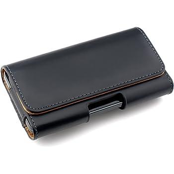 83513f5a526d kwmobile Étui de Ceinture 14,0 x 7 x 1,5 cm pour Téléphone Portable - Étui  Ceinture Universel Simili Cuir - Sacoche Smartphone avec Crochet - Noir