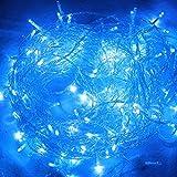 HJ 100 LEDs 10M Blau LED Lichterkette Weihnachtslichterkette Mischenfarbe ideal für Party Garten Schaufenster Hochzeiten Weihnachten Tannenbaum