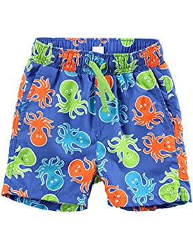 ESTAMICO Bañador de natación de playa para niños Pulpo azul 10-12 años