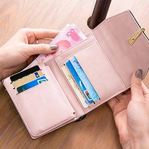 Woolala Nubuck Portafoglio Per Le Donne Trifold Cash Credit Cards Holder Organizzatore Dimensioni Tasca Borsa Piccola, Grigio Purple