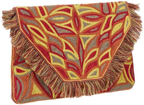 Antik Batik AUSTEEN1WAL, Pochette donna, 31x31x2 cm (L x A x P), Marrone (Braun (BROWN)), 31x31x2 cm (L x A x P)