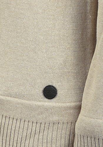 BLEND Franklin Herren Strickpullover Feinstrick Pullover mit Rundhals-Ausschnitt aus 100% Baumwolle Sand Mix (70810)