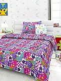 #3: Story@Home Bears Happiness Multicolor 136 TC Cartoon Print Kids Single Bedsheet