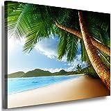 Boikal Bilder Meerblick 50x60cm - XXL Leinwandbilder - Einteilige Wandbilder - Leinwand auf Rahmen - Meer Landschaft - Palmen Strand Motive auswählbar - Kunstdruck VI1P3-387D2