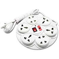 Digway 8+1 Round Strip Extension Cord;6 Amp 8 Universal Multi Plug Point Extension Board (Cord Length: 2.50 Meter) with LED Indicator and Switch