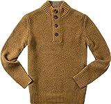 Tommy Hilfiger Herren Troyer Pullover Sweater Uni & Uninah, Größe: XL, Farbe: Gelb