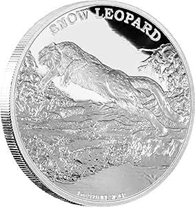SNOW LEOPARD Endangered Species 1oz Silver Coin 2$ Niue 2016