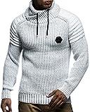 LEIF NELSON Herren Strick-Pullover |Strick-Pulli mit Schalkragen | Moderner Woll-Pullover Langarm-Sweatshirt Kleidung Männer