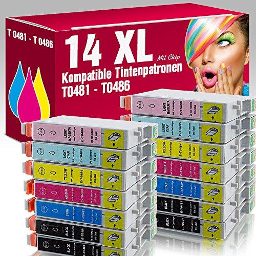 ms-point® 14x kompatible Druckerpatronen für Epson Stylus Photo R200 R210 R220 R300 R300M R310 R320 R340 RX300 RX500 RX600 RX620 RX640
