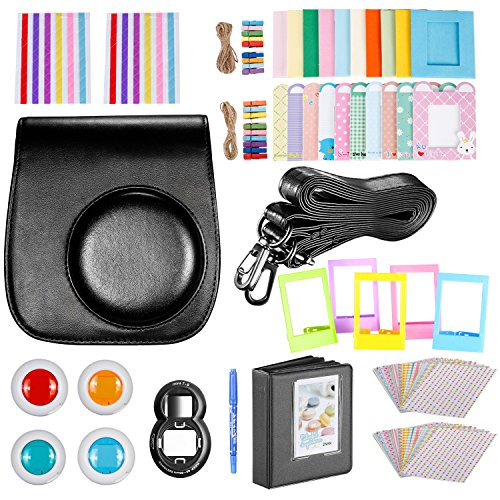 neewer-nero-10-in-1-kit-di-accessori-per-fujifilm-instax-mini-8-8s-custodia-album-obiettivo-per-self