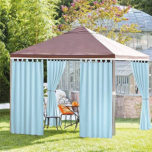 ng Panel für Veranda Terrasse , Sichtschutz Fall Band Fenster Vorhang mit UV-Ray geschützt und Wasserdicht , Einfach zu Hängen auf 127x 274,3cm Hellblue ()