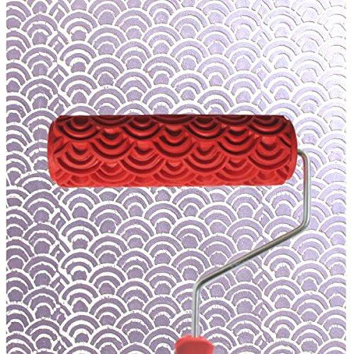 Generico - 7 pollici rullo da pittura crea effetto rilievo con manico per decorazioni pareti casa motivo #3