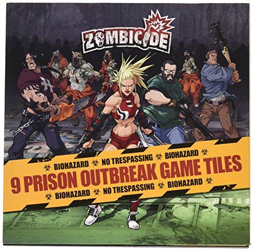 Zombicide: 9 Prison Outbreak Game Tiles - Juego Mesa
