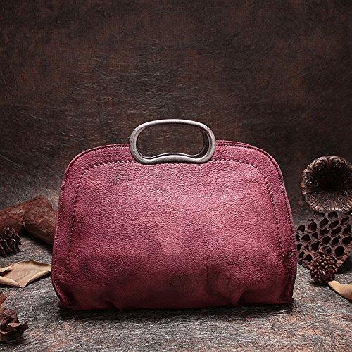 Nouveau vintage en cuir fait main original sac diagonale occasionnels sac à bandoulière sac à main boulette Red