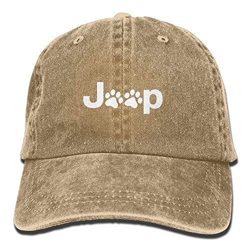 Zhgrong Caps Jeep Dog Paw Plain Adjustable Cowboy Cap Denim Hat for Women and Men Baseball Hats