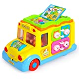 Early Education 1 Year Olds Baby Toy Intellectual School Bus with Light/ Music for Children & Kids Boys and Girls