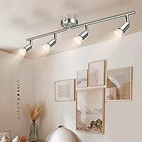 Wowatt Plafonnier LED à 4 Lumières En Nickel Mat Lampe Applique Spot de Plafond 5W 420Lm Equivalent 40W Lampe…