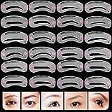 Kit 24Stencil Augenbrauen Set Definition Maske Pflege Make-up Makeup
