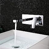 Bijjaladeva Wasserhahn Bad Wasserfall Mischbatterie Waschbecken WaschtischDas Kupfer Kalt-und in die Wand bündig Waschtisch Armatur Waschbecken Waschbecken Montieren
