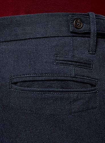 oodji Ultra Herren Chinohose Slim Fit Blau (7923O)