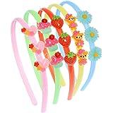 5pcs colore casuale cartone animato ornamento resina elastico fermaglio capelli bambina carino fascia per capelli loop cerchi