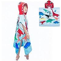Asciugamani da Bagno Poncho con Cappuccio Bambini Asciugamano da Spiaggia in Cotone 100% Asciugamano Accappatoio Nuoto…