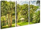 deyoli Pavillon in Bezaubernder Landschaft in Florida Format: 3-teilig 120x80 als Leinwandbild, Motiv fertig gerahmt auf Echtholzrahmen, Hochwertiger Digitaldruck mit Rahmen, Kein Poster oder Plakat