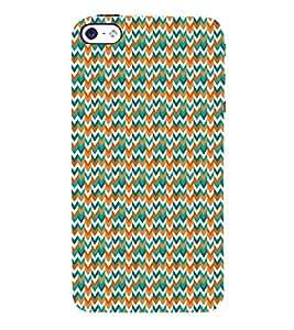 Down Arrow Mix Chevron 3D Hard Polycarbonate Designer Back Case Cover for Apple iPhone SE