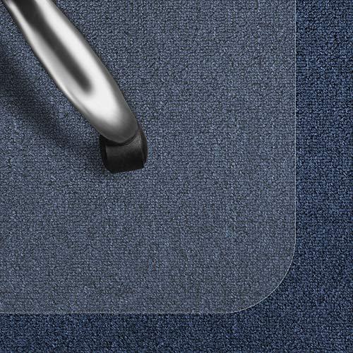casa pura Bodenschutzmatte Transparent für Kurzflor-Teppich | Schreibtischstuhl Unterlage für Büro und Wohnen | Bodenmatten wahlweise für Teppich/Hartböden (Kurzflor-Teppich/Nadelfilz 100x120 cm)