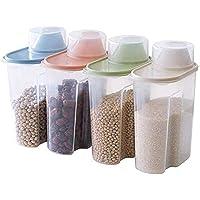 Cxssxling 4 Pièces Boite Conservation Alimentaire Boîtes de Rangement Plastique Les Céréales