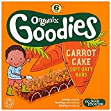 Organix Goodies From 12+ Months Organic Carrot Cake Soft Oaty Bars 6 x 30 g (Pack of 6, Total 36 Bars)