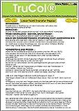 25 Blatt Din A4 Laserdrucker Farblaser Kopierer Transferfolie / Transfer Papier / Spezialpapier zum Bedrucken von weissen und hellen T-Shirts, Baseball-Caps und anderen Baumwoll-Textilien. Drucken Sie Ihr Motiv auf das speziell beschichtete Transferpapier und übertragen Sie das Bild mit Hilfe einer Transfer Presse auf das Textil