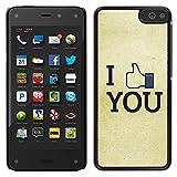 MDMG / Snap On Hartschalen-Case Schutzhülle Hülle - Ich mag Sie FB - Amazon Fire Phone