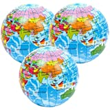 3 x Atlas Stress Balls by StressCHECK - Sensory Toys - Globe, World Map Squeezy Balls ideal for ADHD & Autism